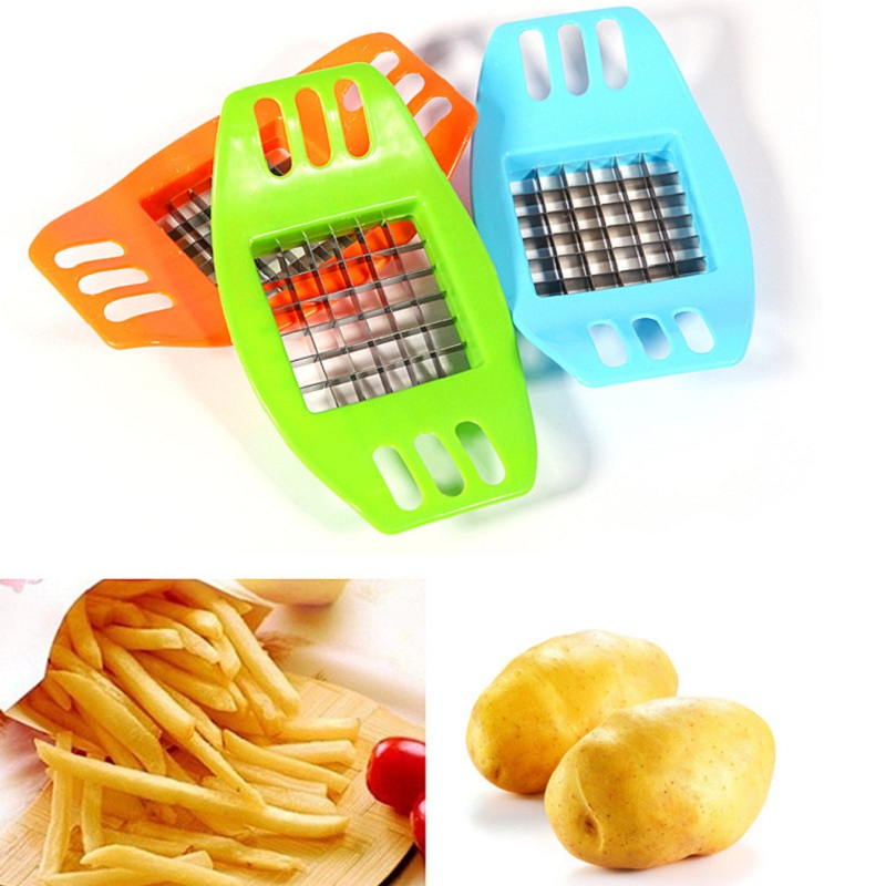 French Fry Cutter Vegetable Potato Slicer Cutter Chopper Chip Maker Tool Potato Cutting Gadgets Machine Cuts Kitchen Accessories