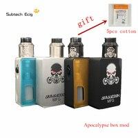 Electric cigarette Apocalypse Mod Kit with GEN 2 rda 24MM ABS Material box Mod Fit 18650 Battery Vape pens VS SMPL mod Kits
