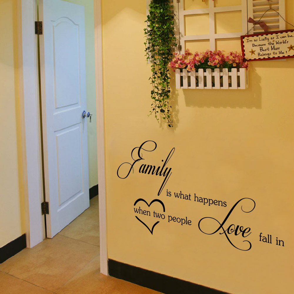 aw9283 family love Wall Stickers English Wall Quotes Vinyl Home ...