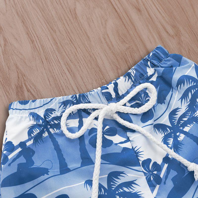 Купить с кэшбэком Fashion Children Kids Shorts Hawaiian Style Beach Print Beach Pants Cute Boys Summer Swimming Wear