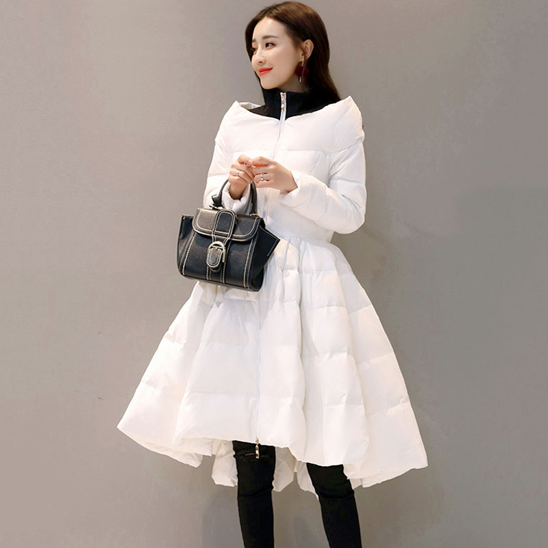 Winter Jacket Women Parka Plus Size Down Cotton Wadded Coat Elegant Outerwear Chaqueta Mujer Black Winter Long Coat Women Q950