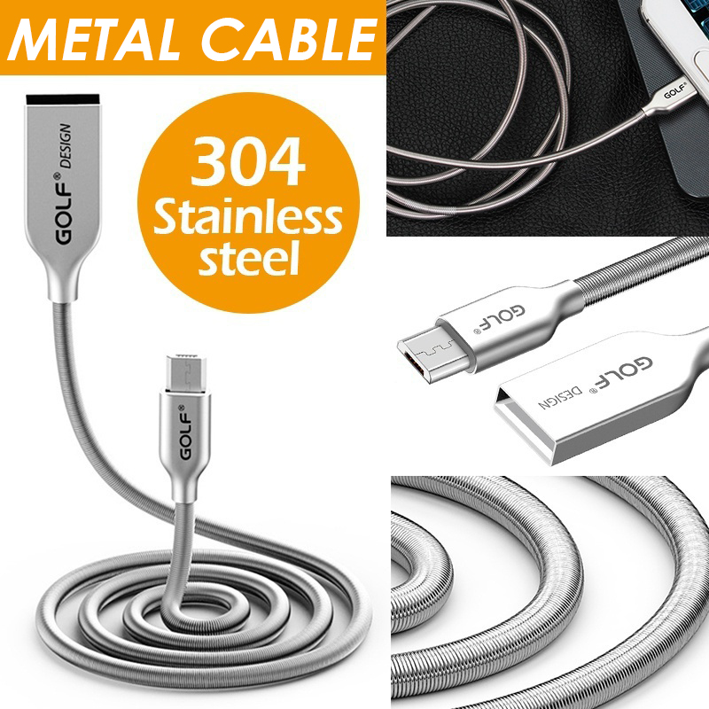 Golf Micro USB Cable Metal Fast Charging Wire Type C Phone Charger USB C Data Cable Type C Line for Samsung Huawei Xiaomi USB C