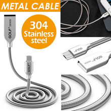 Golf Micro USB Cable Metal Fast Charging Wire Type C Phone Charger USB C Data Cable Type-C Line for Samsung Huawei Xiaomi USB-C