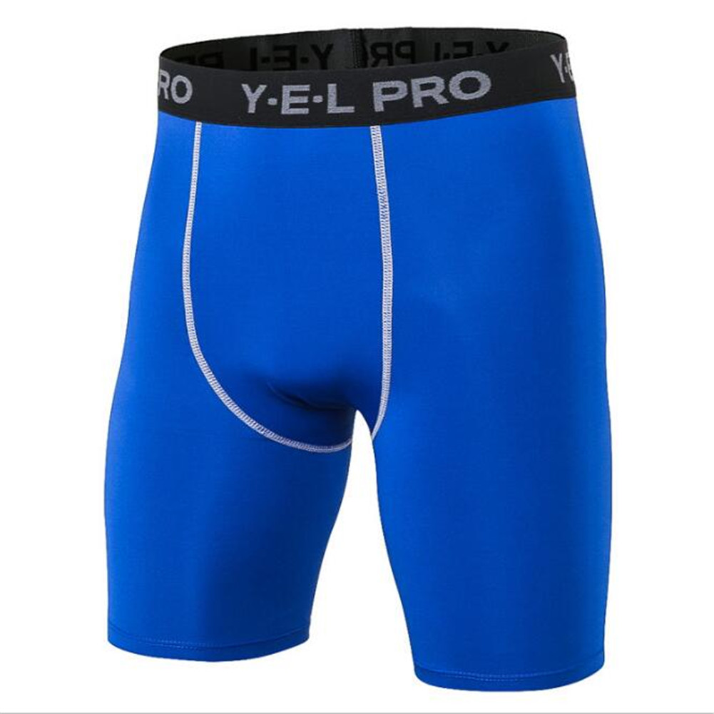 #1034 Men Boys High Elasticity Training Running Sport Gym Compression Tights Sweat  Wicking Quick Dry Shorts 6 Colors S~XXL