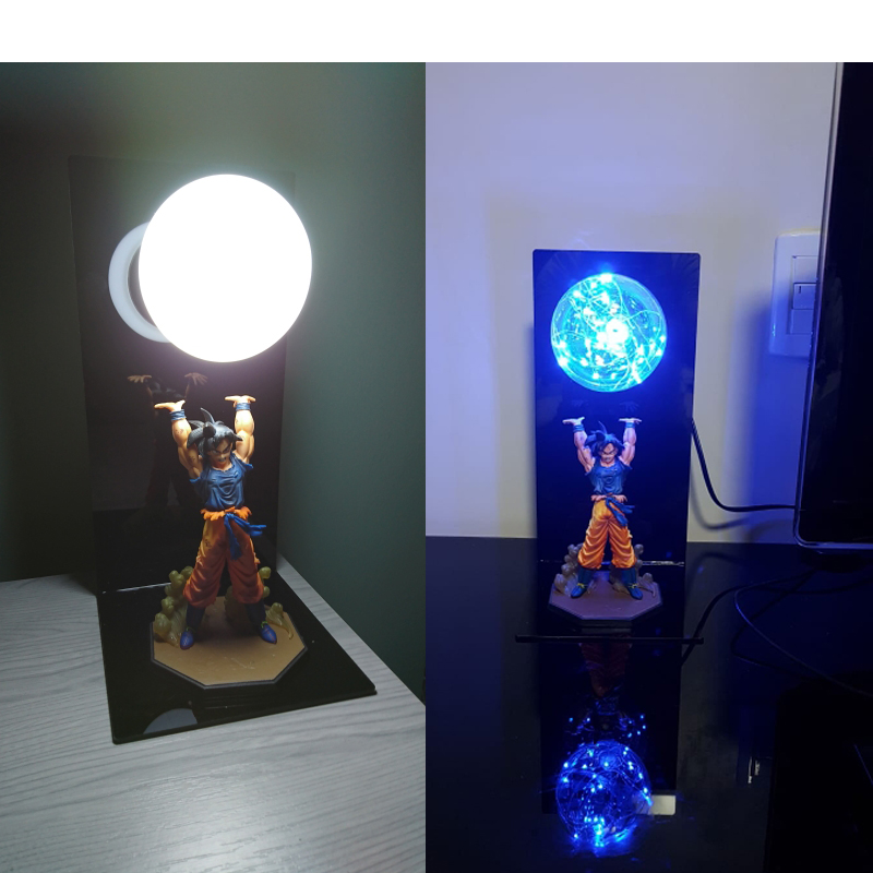 Creative Dragon Ball Son Goku Strength Bombs LED Night Lights Kids Table Lamp Luminaria For Baby Children Room Decorative Light