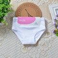 3 шт./лот мальчик Трусики мальчик Трусы Девушки Underwear Хлопок Мода Белых Детей Короткие Трусы 2-7Year Детская Одежда