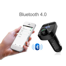 8 in 1 Wireless Adapter Car Bluetooth Kit FM Transmitter MP3