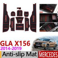 Anti-Slip Tor Slot Gummi Matte für Mercedes Benz GLA X156 GLA180 GLA200 GLA220 GLA250 GLA45 200 220 250 200d 220d Zubehör