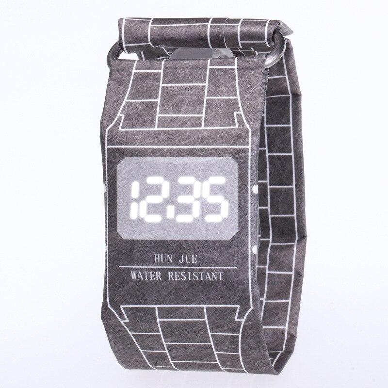 Relogio Feminino 2019 Unique Designer Paper Watch Women Wrist Watch Waterproof Electronic Papr Watches LED Women's Watch Clock