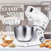 1000 W 5L cuisine alimentaire Stand mélangeur 6 vitesses en acier inoxydable bol oeuf fouet-mélangeur pâte mélangeur fabricant Machine cuisine outils de cuisson