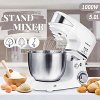 1000W 5L Kitchen Food Stand Mixer 6 speed Stainless Steel Bowl Egg Whisk Blender Dough Mixer Maker Machine Kitchen Cooking Tools