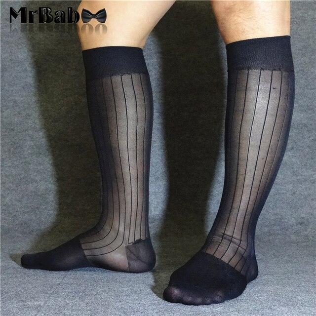 e85820b6dc 12Pairs Lot 100% Nylon Men's Dress Socks,Mens Knee High OTC Crew TNT Sheer  Socks 0063