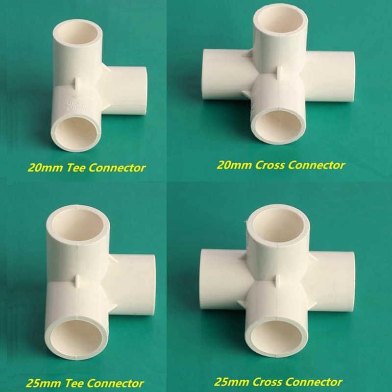 NuoNuoWell White 20/25mm Inner Dia Equal Tee/Cross Pipe Connectors Garden PVC Water Pipe Joint Irrigation Hose Tube Accessories-in Garden Water Connectors ... & NuoNuoWell White 20/25mm Inner Dia Equal Tee/Cross Pipe Connectors ...