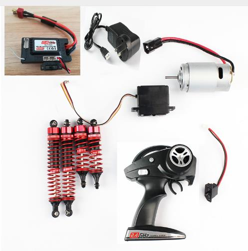 US $5 26 6% OFF JJR/C JJRC Q39 Q40 1/12 RC Car spare parts receiver motor  remote control Servo charger switch shock absorbers-in Parts & Accessories