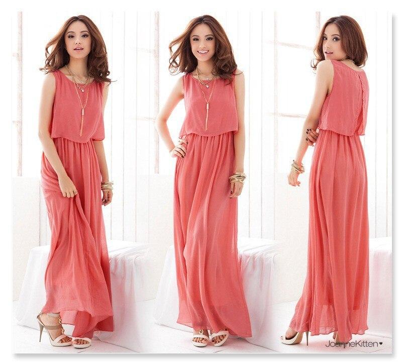 Summer dress 2017 de la gasa de la tobillo-longitud ocasional sundress mujeres d