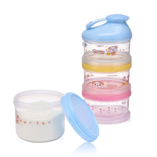 4 Layer Portable Container Infant Food Milk Feeding Powder Dispenser Bottle Baby Travel Storage Box Products