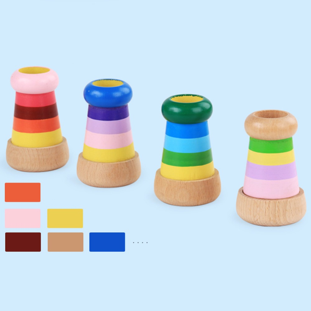 Wooden Magic Kaleidoscope Educational Toy for Children Kids Learning Puzzle Toy Baby Boy Girls Novelty Toy Gift Random Corlor Toys
