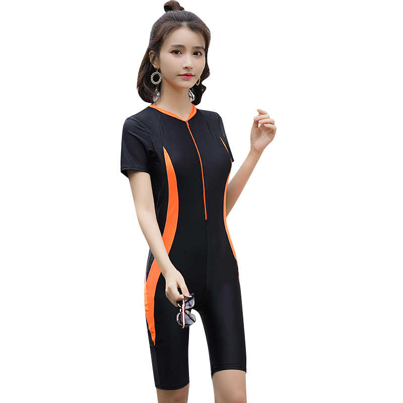 5aebb17d80 2018 Newest Women Swimsuit Sport Short Sleeves Swimwear Ladies Beach Wear  Summer Bathing Suit Surfing Suit