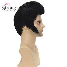 Черный Короткий Парик Косплей Синтетический костюм Парики Волос для мужчин
