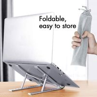 Universal Aluminum Alloy Portable Folding Stand Bracket Holder Mount for PC Computer Notebook Laptop Accessories