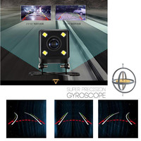 Night Vision Steering Dynamic Guided Parking Line Car Rear View CCD Camera Back Len 135 Degrees