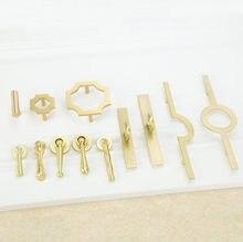 LCH – poignée de meuble en alliage de Zinc, or et cuivre brossé, Style chinois, poignée de meuble, tiroir, porte