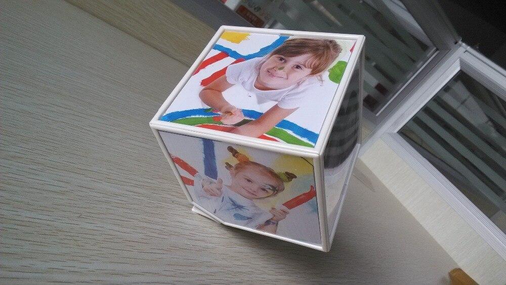 Cubo mágico rotatorio marco de fotos cubo múltiples marco 360 ...