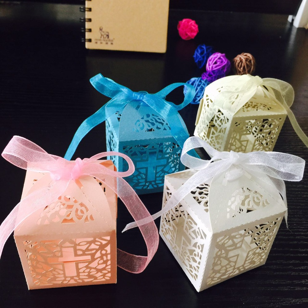 10pcs/lot DIY Crossing Candy Boxes Angel Gift Box For Baby ...