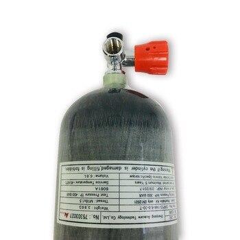 маленькие воздушные баки | AC16811 CE сертификация углеродное волокно бак с красным клапаном Воздушный бак цилиндр сжатого воздуха газовый баллон надувать маленький цили...