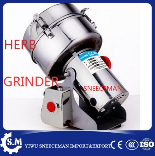 commercial top grade multifunction 2000g stainless steel Swing type Chinese medicine grinder pulverizer flour mill superfine