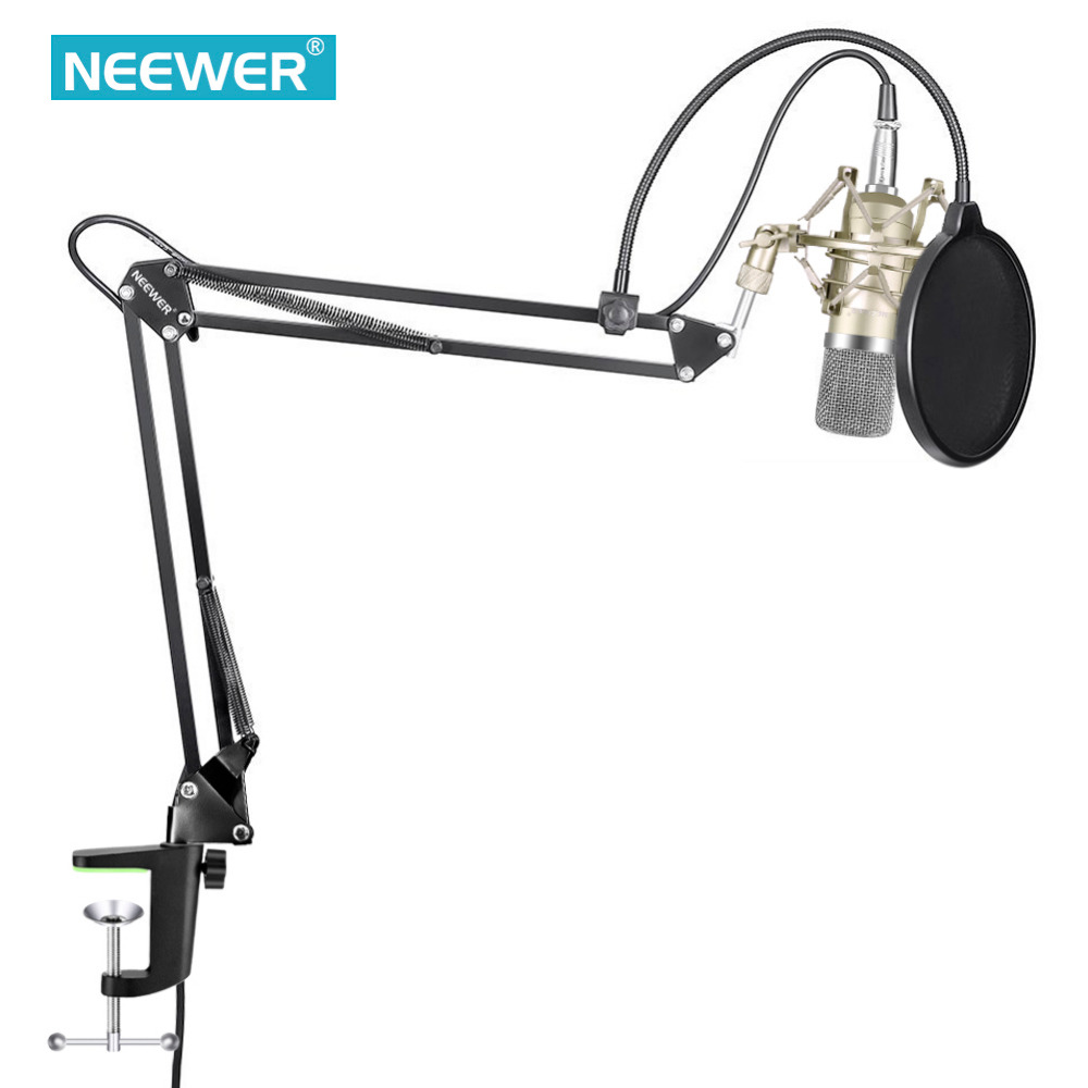 Neewer NW-700 Condenser Microphone Kit NW-35 Boom Scissor Arm Stand with Shock Mount for Home Studio Recording 48V Power Supply плеер sony nw a35hn