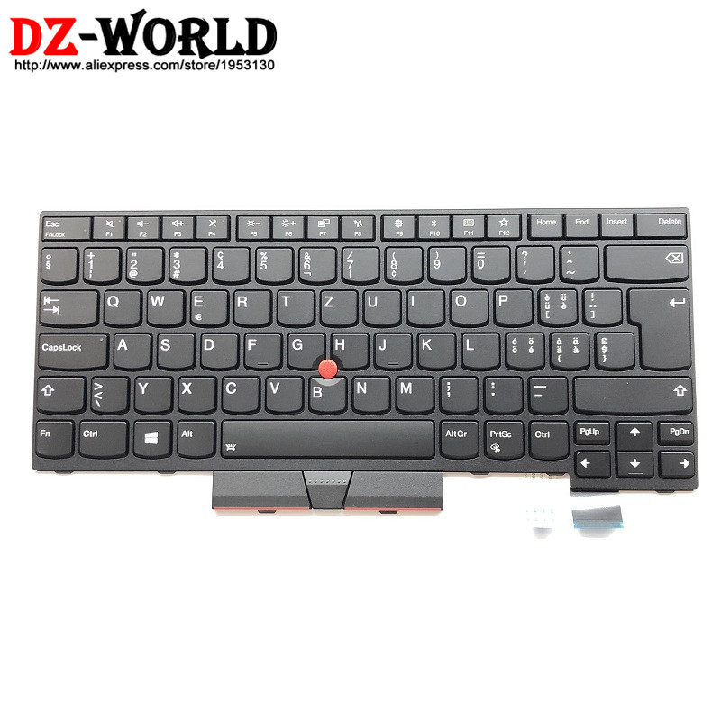 New Original for Lenovo Thinkpad T470 A475 T480 A485 Swiss Backlit Keyboard Backlight Teclado 01AX555 SN20L72866 01AX596 01AX514 new original for lenovo thinkpad t470 t480 a475 us english backlit keyboard backlight teclado 01ax569 sn20l72890 01ax487 01ax528