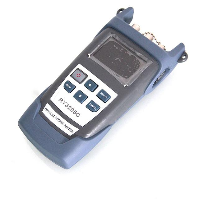 De mano RY3205C fibra óptica multímetro + medidor de potencia de fibra óptica fuente de luz láser SM1310 / 1550nm + 10 mw VFL por DHL