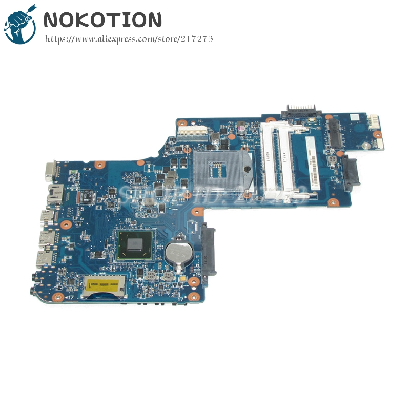 NOKOTION H000061920 PC Main Board For Toshiba Satellite C50 C50D Laptop Motherboard PGA989 HM70 DDR3 Free CPU nokotion genuine h000064160 main board for toshiba satellite nb15 nb15t laptop motherboard n2810 cpu ddr3