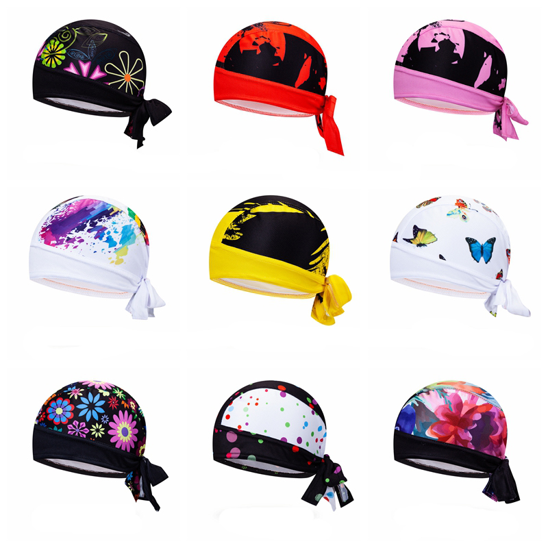 Coolmax Cycling Cap Women Men Bike Hat Headwear Bicycle Pirate Scarf MTB Headband Sweatproof Riding Sports Helmet Wear Bandana