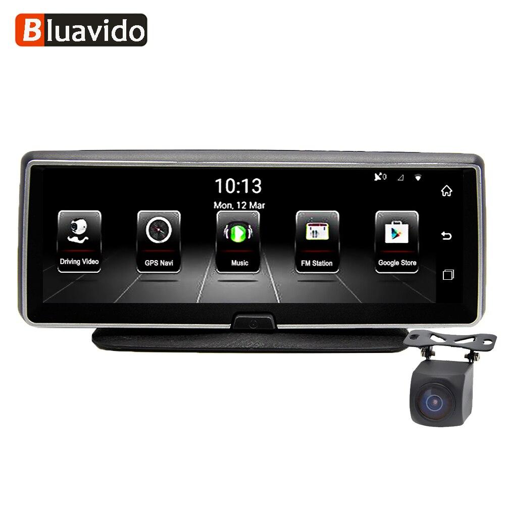 Bluavido 8 дюймов 4G автомобиля камера видеорегистратор gps FHD 1080P Android навигации ADAS Ночное видение регистраторы видео Регистраторы Remote Live монитор