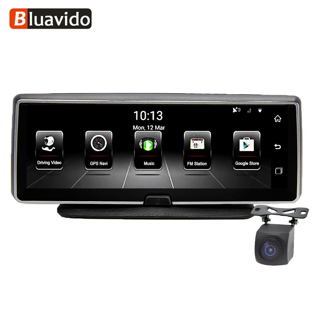 Bluavido 8 pollice 4g macchina fotografica Dell'automobile DVR GPS FHD 1080 p Android di Navigazione ADAS di Visione Notturna Dash Cam Video registratore A Distanza In Tempo Reale monitor