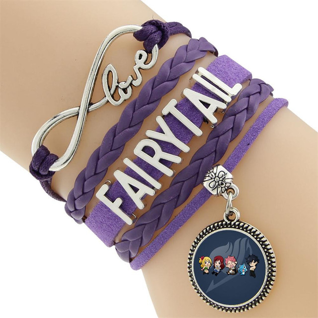 Fairy Tail Natsu Lucy Erza Scarlet Guild Hand Chain Wrist Bracelet