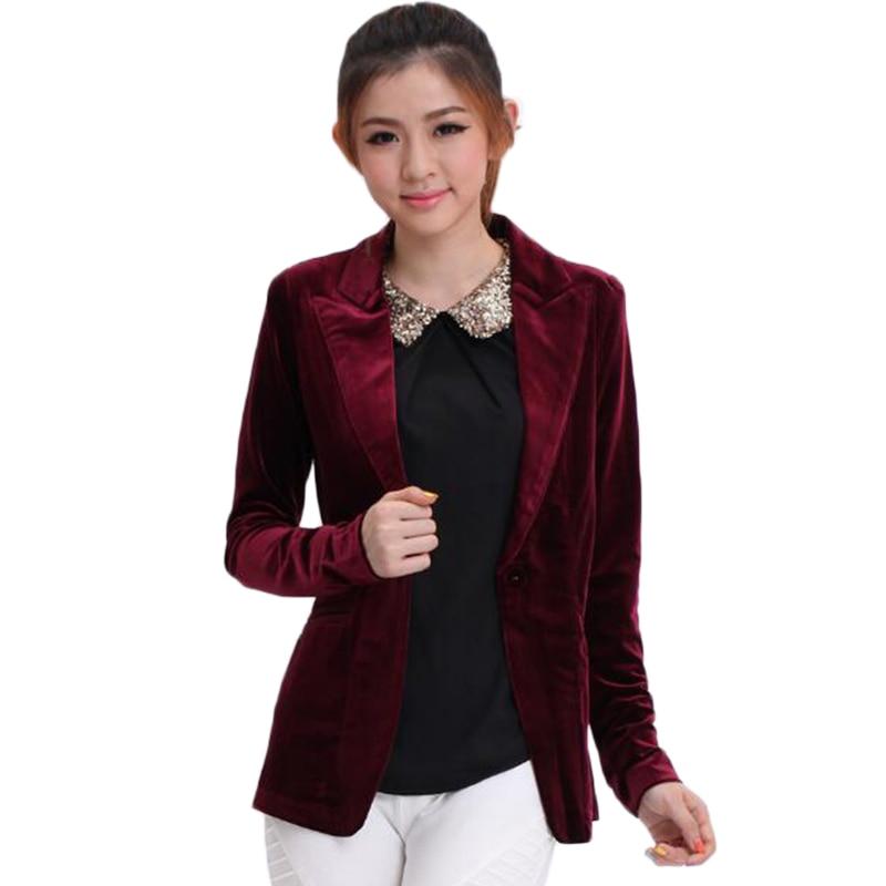 Online Get Cheap Long Velvet Blazer -Aliexpress.com | Alibaba Group