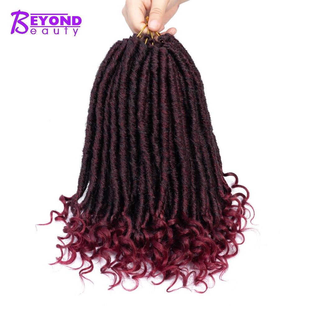 Kanekalon rastas extensiones de cabello 14 pulgadas hecho a mano de la  diosa Locs 24 hilos más allá de la belleza corta trenzas de Crochet  cerraduras ... d2da699c513