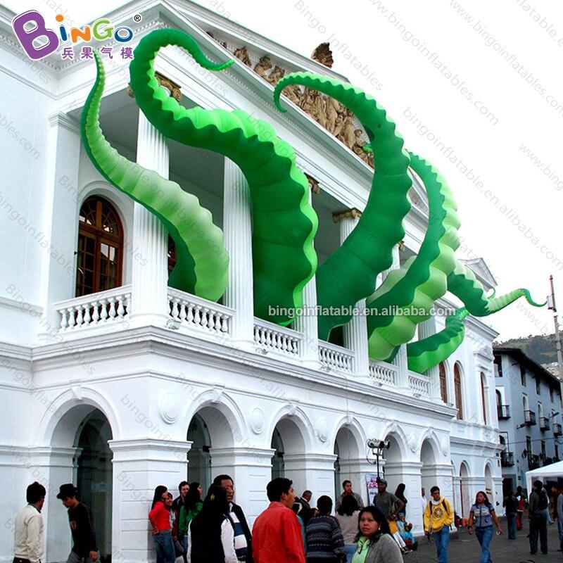 Pieuvre gonflable géant vert personnalisé tentacule/tentacule gonflable/gros jouets gonflables d'antenne
