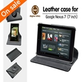 For Google Nexus 7 1st Gen Tablet 360 Degree Rotating PU Leather Stand Case Cover Black