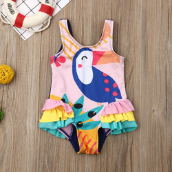 0-5T Kids One-piece Swimsuit Toddler Kids Baby Girls Cartoon Bikini Swimwear Swimsuits Bathing Suit Beachwear 3