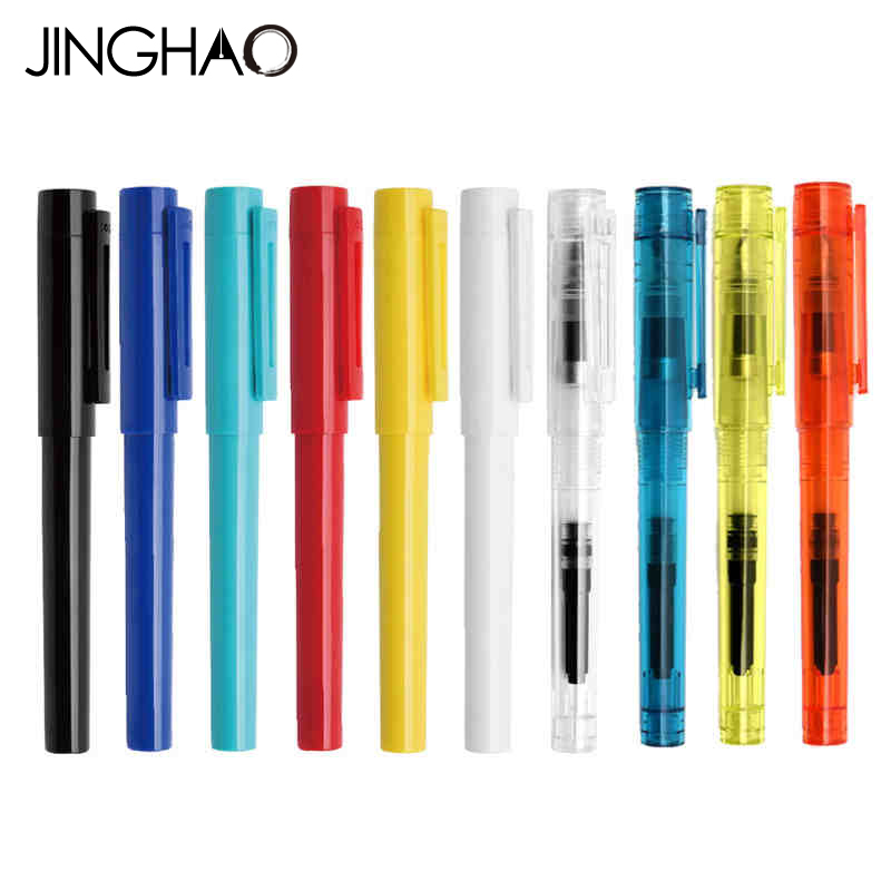 Jinghao KACO SKY Series Kawaii Candy Colors Fountain Pen with F Nib Luxury ABS Transparent Inking Pens for Student Writing Pen italic nib art fountain pen arabic calligraphy black pen line width 1 1mm to 3 0mm