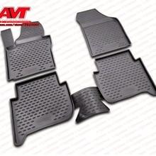 Коврики для Volkswagen Touran(I) 2003-2010,(II) 2010- 4 шт. резиновые коврики Нескользящие резиновые аксессуары для салона автомобиля