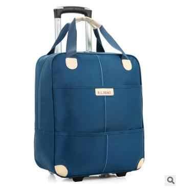 77748449fa New 2017 travel trolley bag with wheels women men Unisex luggage bag on  wheel suitcase Travel