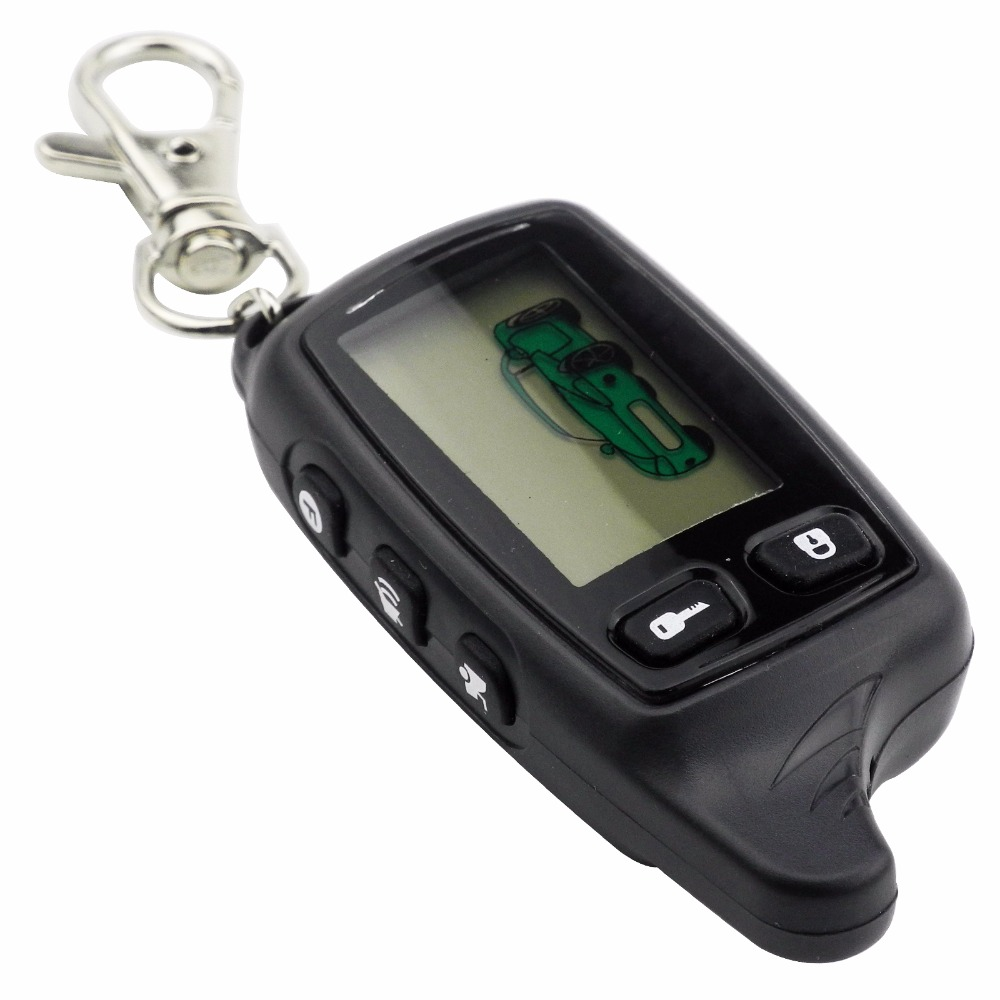 New For Tomahawk TW9010 LCD Remote Controller Two Way Car Alarm System Russian 9010 keychain Fob with logo