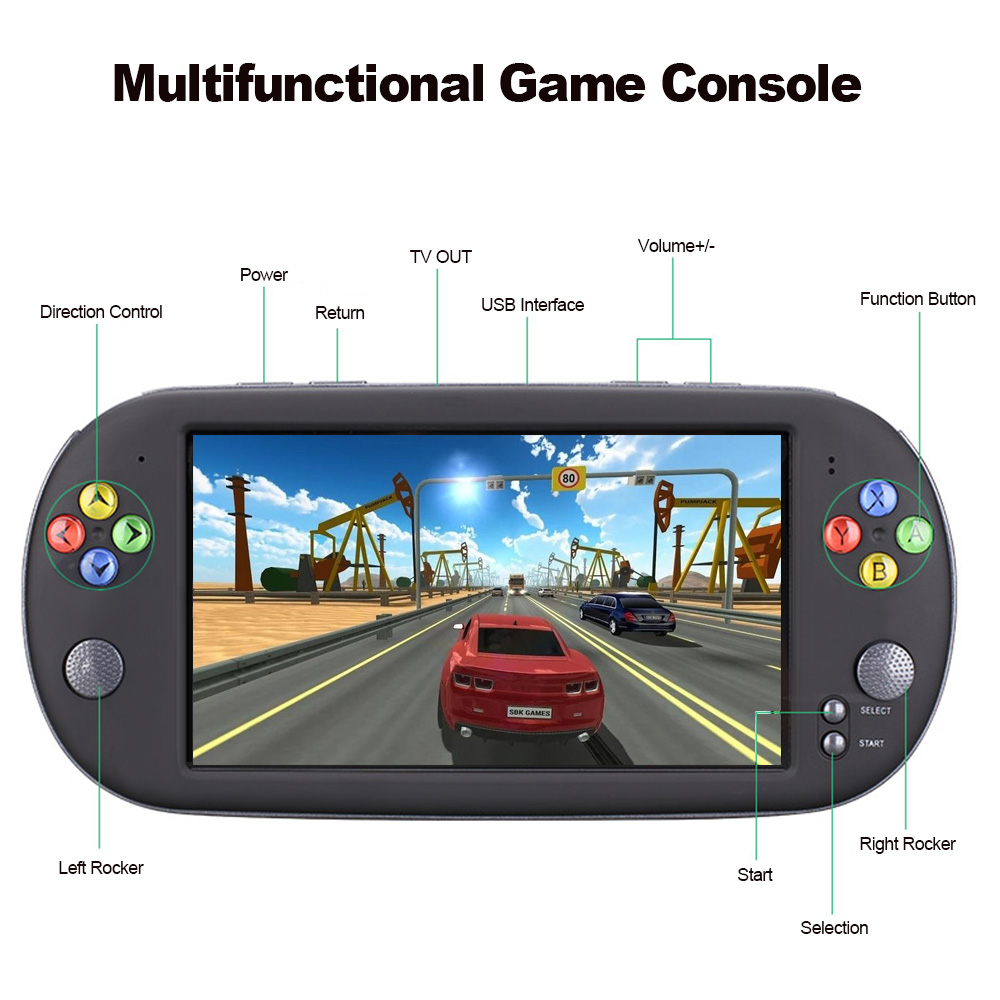 X16 Handheld Game Console Video Game Console with Double Rocker For GBA NES Games Support TF