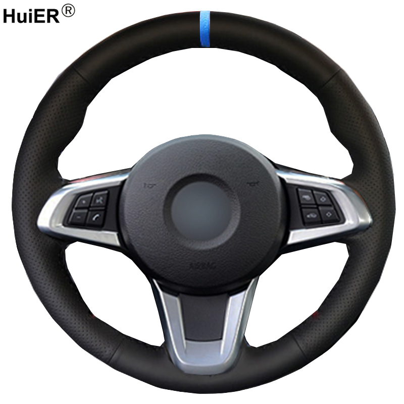 Bmw Z4 Car Cover: HuiER Hand Sewing Car Steering Wheel Cover For BMW Z4 2009