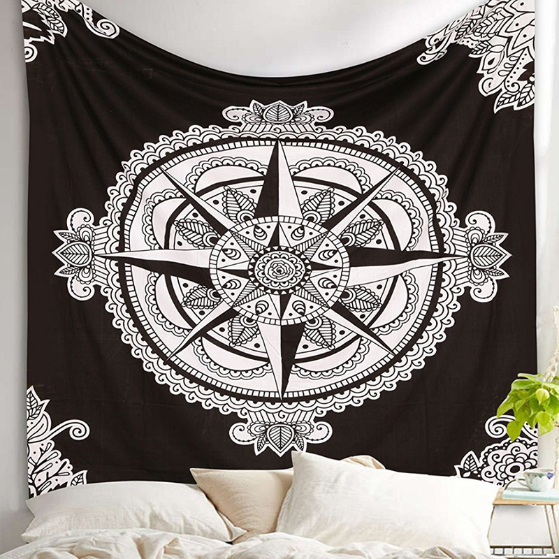 Decorative Wall Hanging Floral Boho Wall Carpet  1